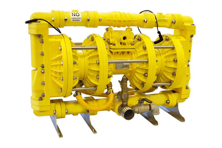 """DS50SY – 2"""" / 50mm Double Stage Slurry Valve Yellow Series"""